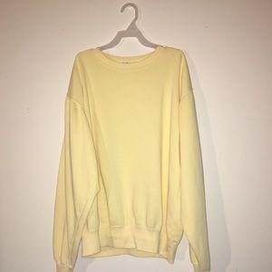 Brandy Melville Yellow Sweatshirt